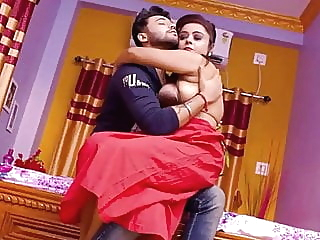 Red Saree Bhabhi Has Hardcore sex With Boss while husband is not at hom amateur asian hardcore