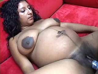 DARKSOME SKIN LARGE BOOBED PREGGY HARDCORE indian pregnant